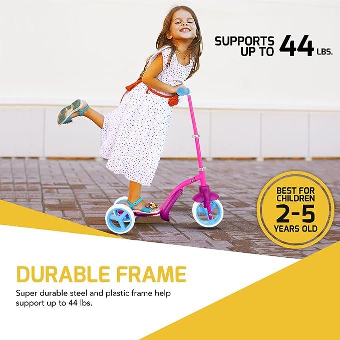 Juguete para niños 2 en 1; patinete de 3 ruedas y bicicleta de equilibrio, puede transformarse el uno en el otro y viceversa de manera fácil, dos formas de ...
