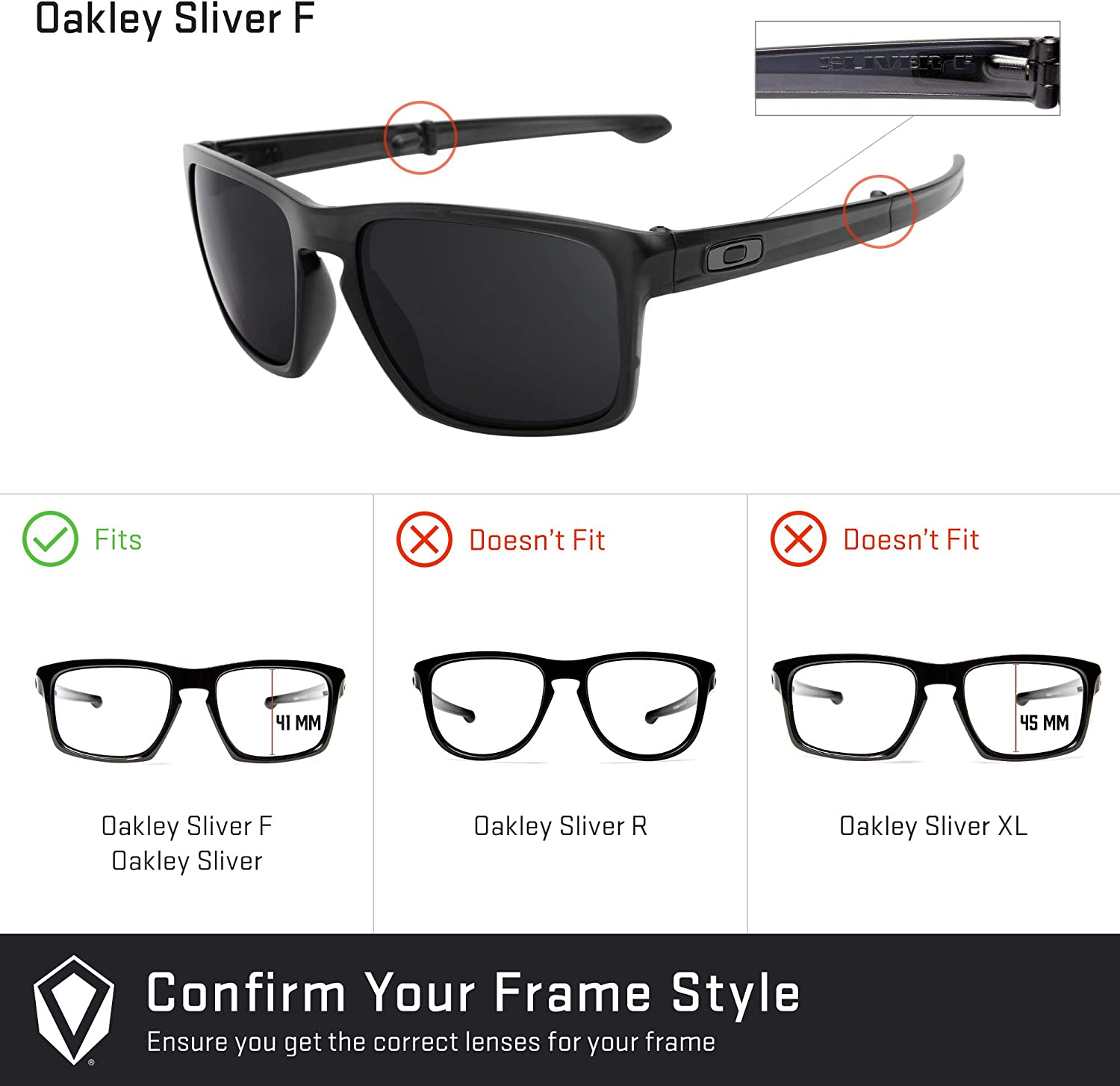 Revant Replacement Lenses for Oakley Sliver F, Non-Polarized, Azul ...