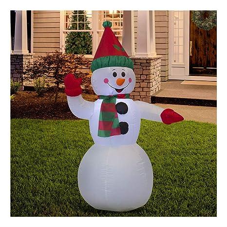 Amazon.com: Adorno de Navidad hinchable de nieve con ...