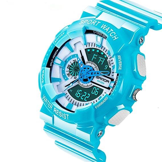 Relojes digitales para hombres, Kenon Sport Brand Electronic Watch Relojes de pulsera para hombres digitales