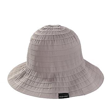 MKHDD Sombrero del Cubo De Las Mujeres del Verano Plegable UPF 50+ Sombrero del Pescador