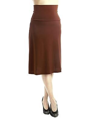 FINA Women's Fold-over Waist Span Maxi Skirt in Knee Length (S, M ...