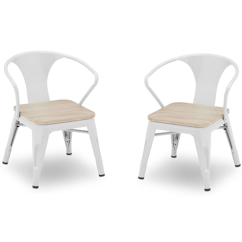 Stupendous Delta Children Bistro 2 Piece Chair Set White With Driftwood Uwap Interior Chair Design Uwaporg