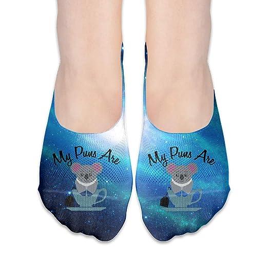 My Puns Are Koala-Tea Girls Fashion Non Slip Flat Boat Line