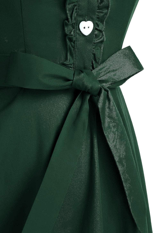 Wedtrend Vestido Vintage Escote V 1950s C/óctel Rockabilly Mujer Vestido Fiesta