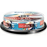 Philips DVD+R-blanco (8,5 GB data/240 minuten video, 8x high-speed opname, 10 spindel, dubbellaags DL)