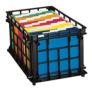 Pendaflex File Crate, Black, 1 Crate (27570)