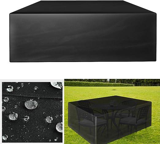 GreenEur - Juego de fundas para muebles de patio, impermeables, fundas para muebles de jardín al aire libre, sofás, sillas de patio: Amazon.es: Jardín