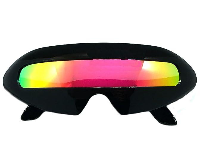 Futurista Cyclops - Espejo sola lente ovalada gafas de sol ...