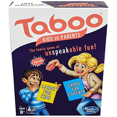 Taboo Kids vs. Parents Family Board Game Ages 8 and Up: Toys & Games