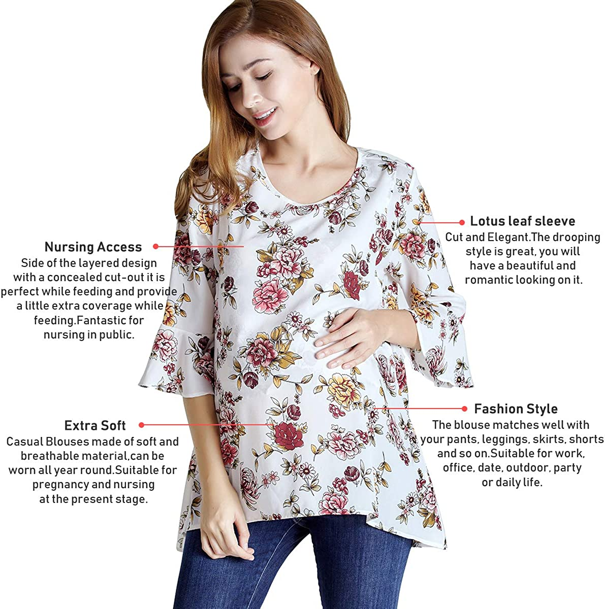 Sosolism Maternity Nursing Tops