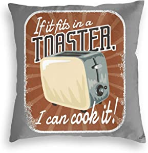 Lingsheng If It S in A Toaster I Can Cook It Pullover Hoodie Velvet Pillowcase Floor Pillowcase Sofa Cushion Cushion Cover Backrest Over Seat Cushion Interior