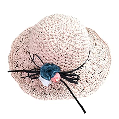 705575887 hat Women Elegant Straw Hats Flower Wide Brim Casual Summer Hats ...