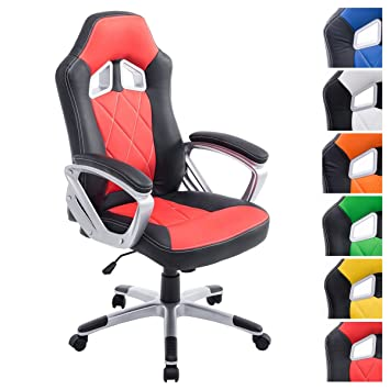 CLP Silla Racing Morgan XL en Cuero Sintético I Silla Gamer Regulable en Altura & Giratoria