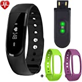 Fitness Tracker Watch - 321OU Waterproof Touch Screen Activity Tracker Bluetooth Smartwatch Bracelet Sport Wristband with Heart Rate Monitor Pedometer Sleep Monitor for iPhone IOS Android