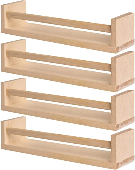 IKEA 4 Especiero de madera – guardería – Soporte de libros – Estante para niños – Cocina – Accesorios de baño – Organizador de almacenamiento – Madera natural de abedul – BEKVAM: Amazon.es: Bricolaje y herramientas