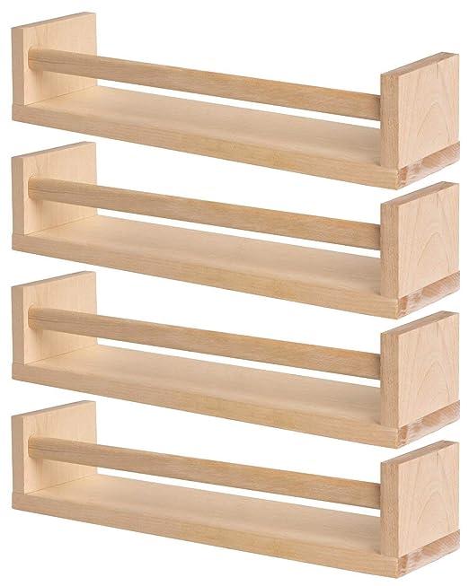 Ikea 4 portaspezie in legno - nursery - libreria - mensola ...