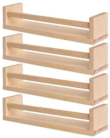 Mensole Porta Cd Ikea.Ikea 4 Portaspezie In Legno Nursery Libreria Mensola Per