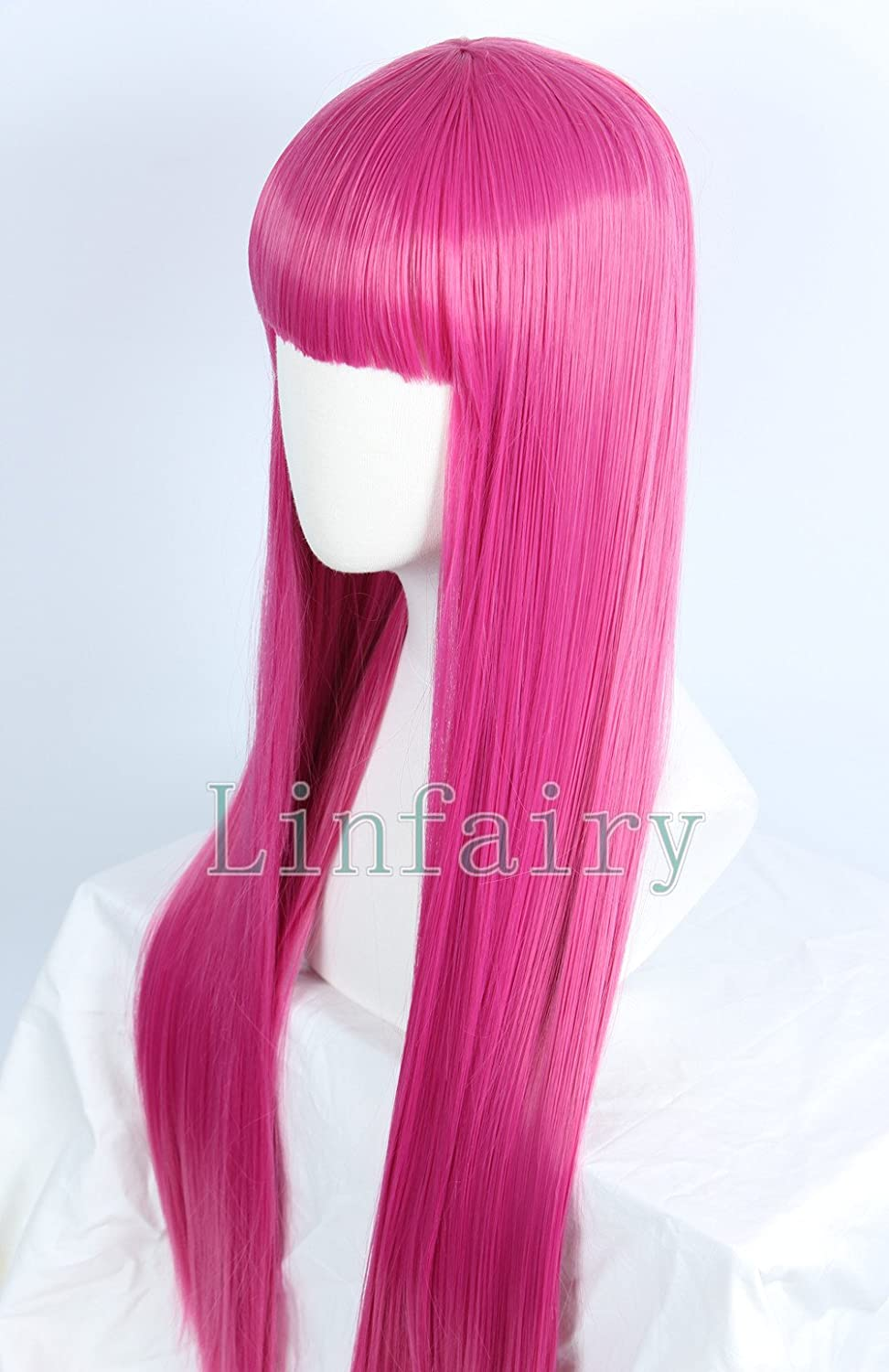 For Halloween Cosplay Princess Bubblegum Adventure Time Pink Long Straight Wig