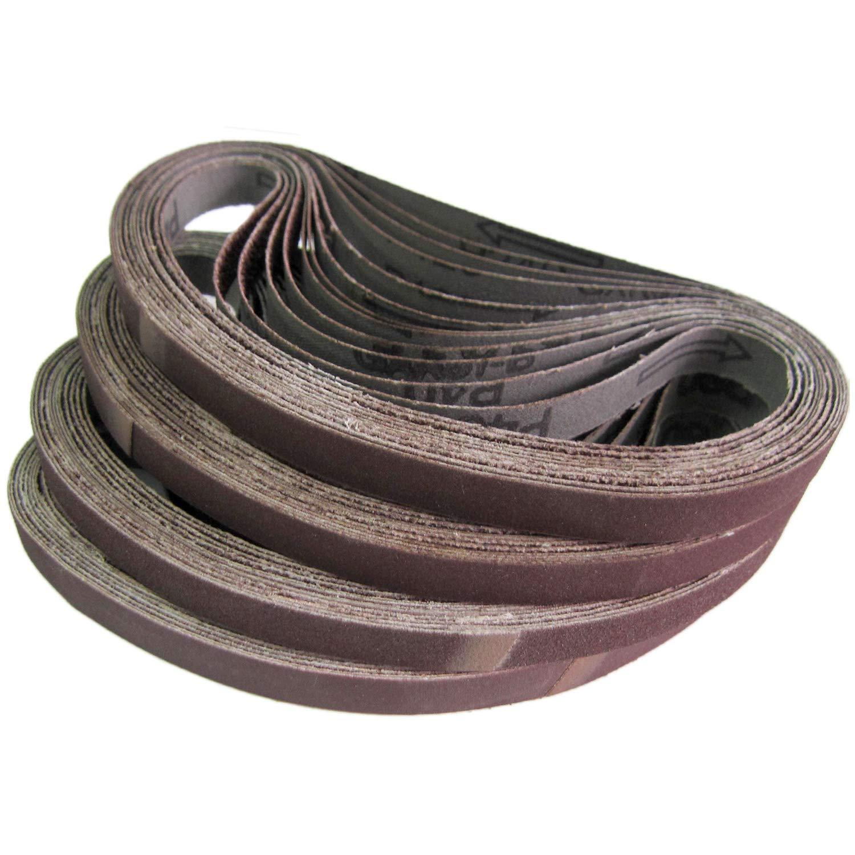 Gewebe Schleifbänder 6 x 457 mm für B/&D Powerfeile Schleifband Posten 100 Stk