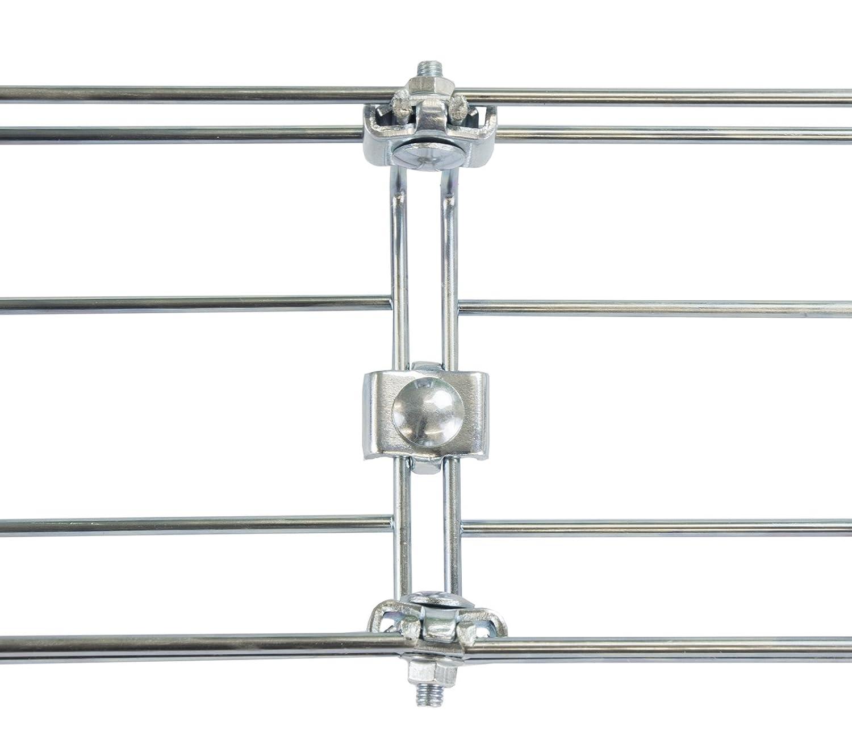 160cm Long Under Desk Basket Cable Tray Galvanized Steel Mesh Cord Management Rack w// Mounting Bracket Cover /& End cap Kabelkorb