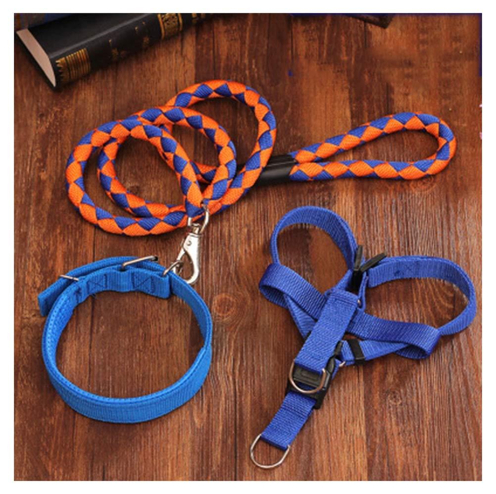 bluee orange 2.5kg-6kg bluee orange 2.5kg-6kg PANGU-ZC Pet Leash Dog Chain Dog Leash Large Medium Small Dog Chest Strap Hyena Rope Pet Collar Stretchable Dog (color   bluee orange, Size   2.5kg-6kg)