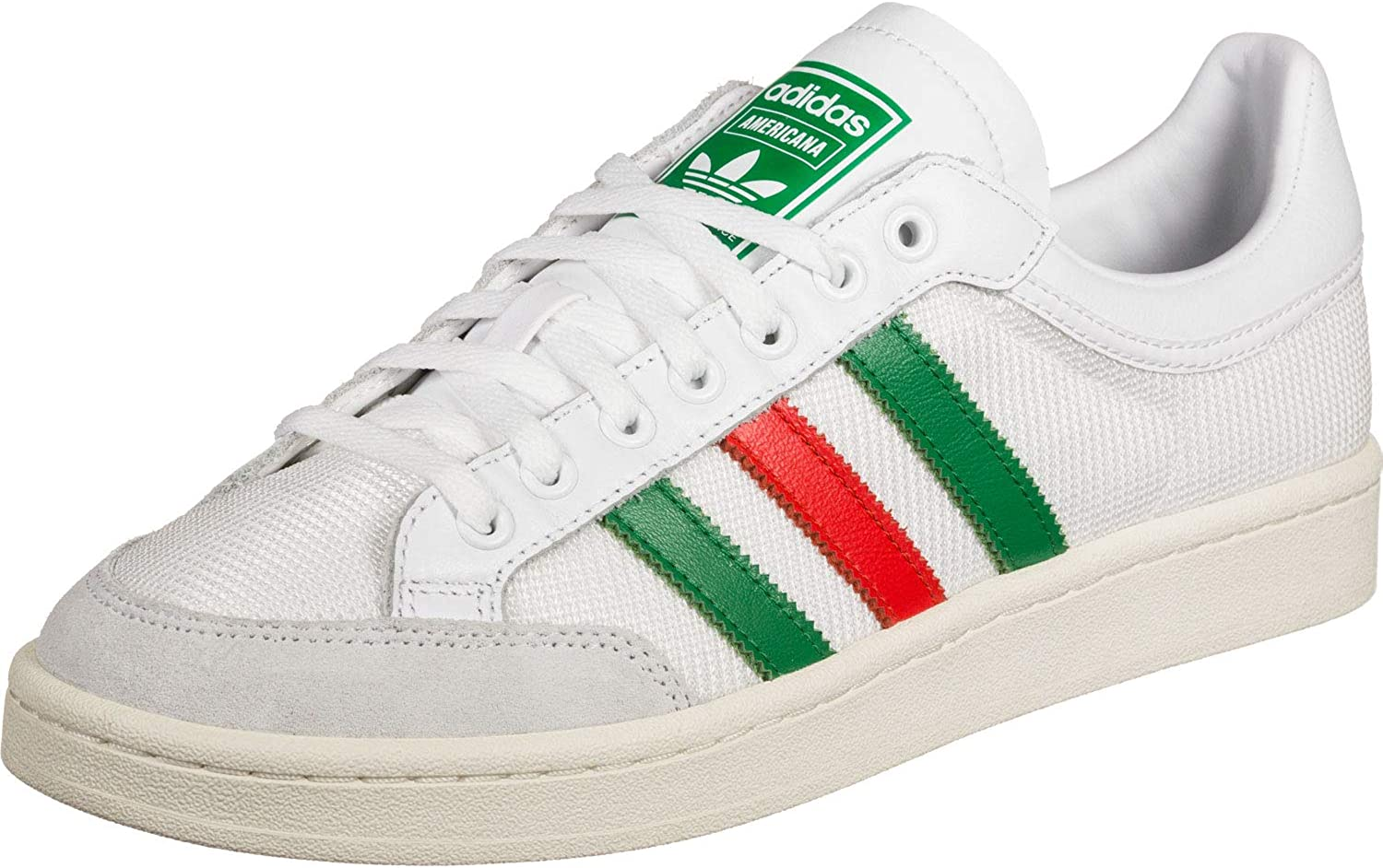 adidas Chaussures Basse Americana low, homme, EF2509, Blanc/vert/rouge, F  41 1/3