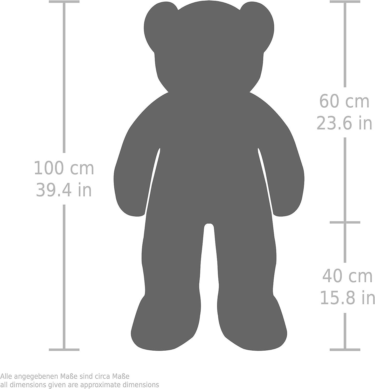 Oso//Osito de Peluche Happy Birthday coraz/ón de Peluche Incluido BRUBAKER Peluche Gigante XXL 100 cm Beige