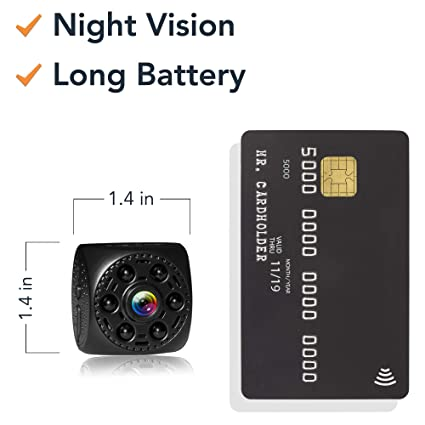 84f96a7e56b3 Amazon.com   Mini Spy Camera Timeqid - Portable with and Without WiFi  Hidden Camera Night Vision 170° Wide Angle Battery Rechargeable Motion  Detection HD ...