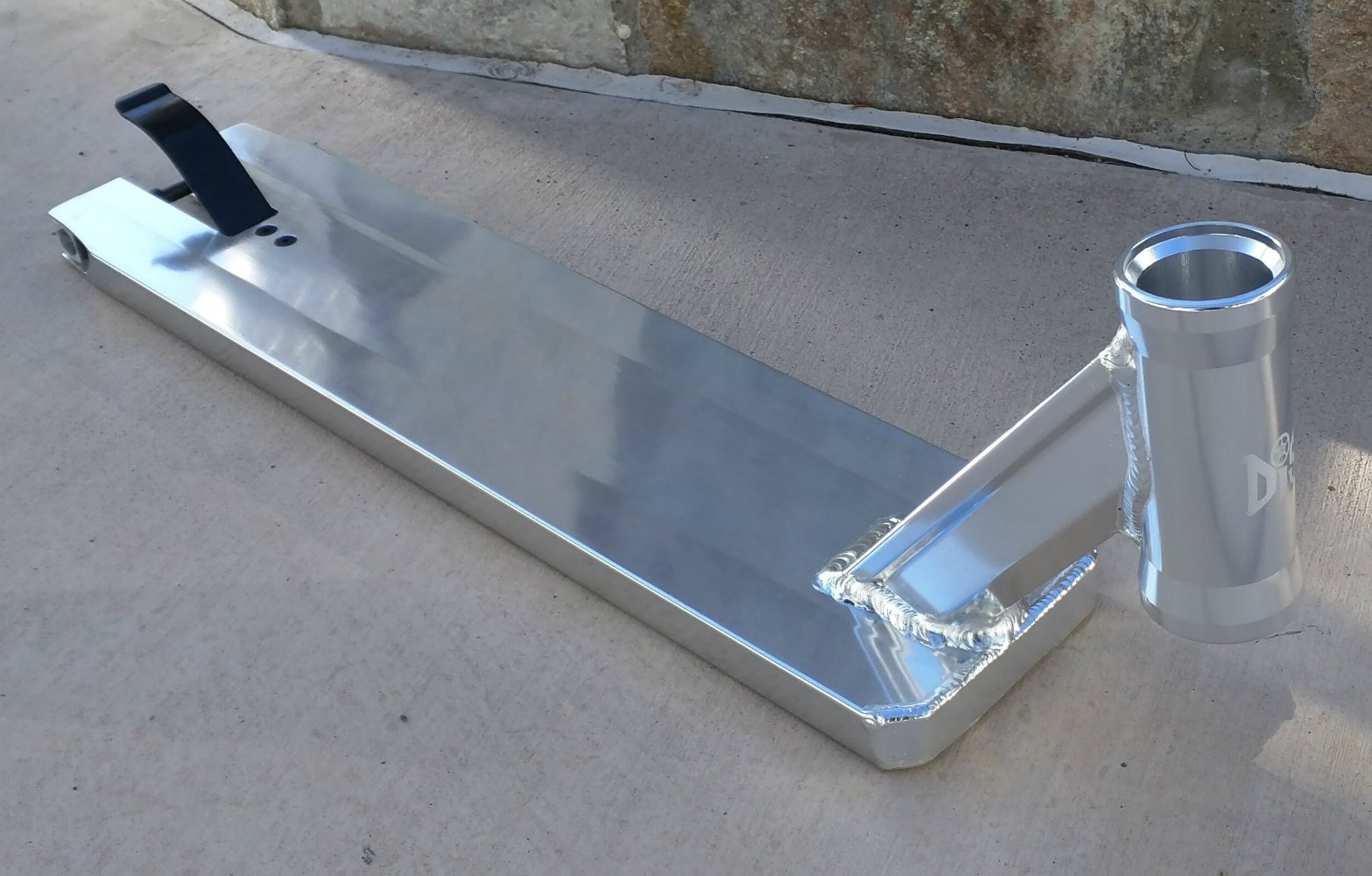 DIS Street Scooter Deck - Silver 5.0 inches wide - 21.0 inches long by DropIn Scooters