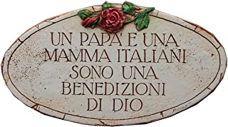 product image for Piazza Pisano Italian Mama and Papa are Blessings from God Wall Plaque