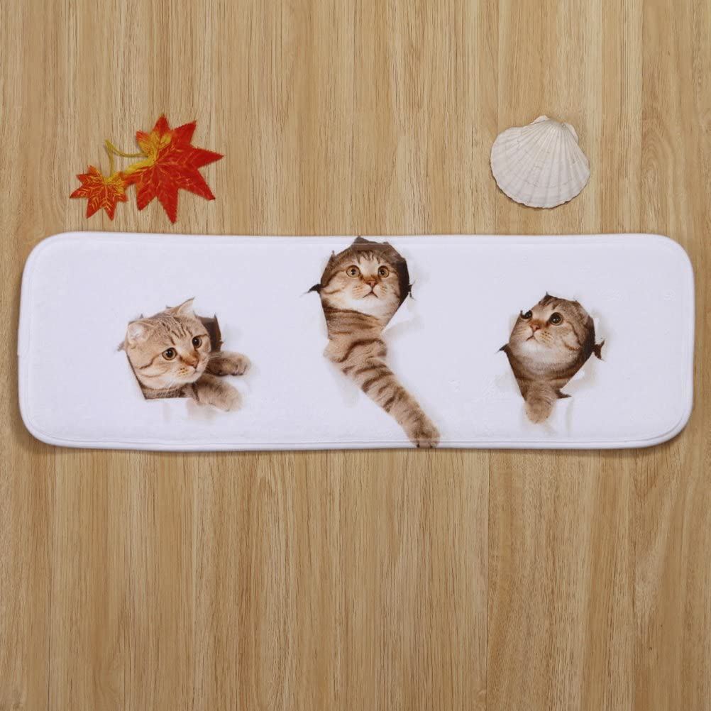 VORCOOL 5pcs Treppen-Teppich Anti-Rutsch Stufenmatten Treppenstufen Matten mit Klebeband und Rubber Backing Katzen