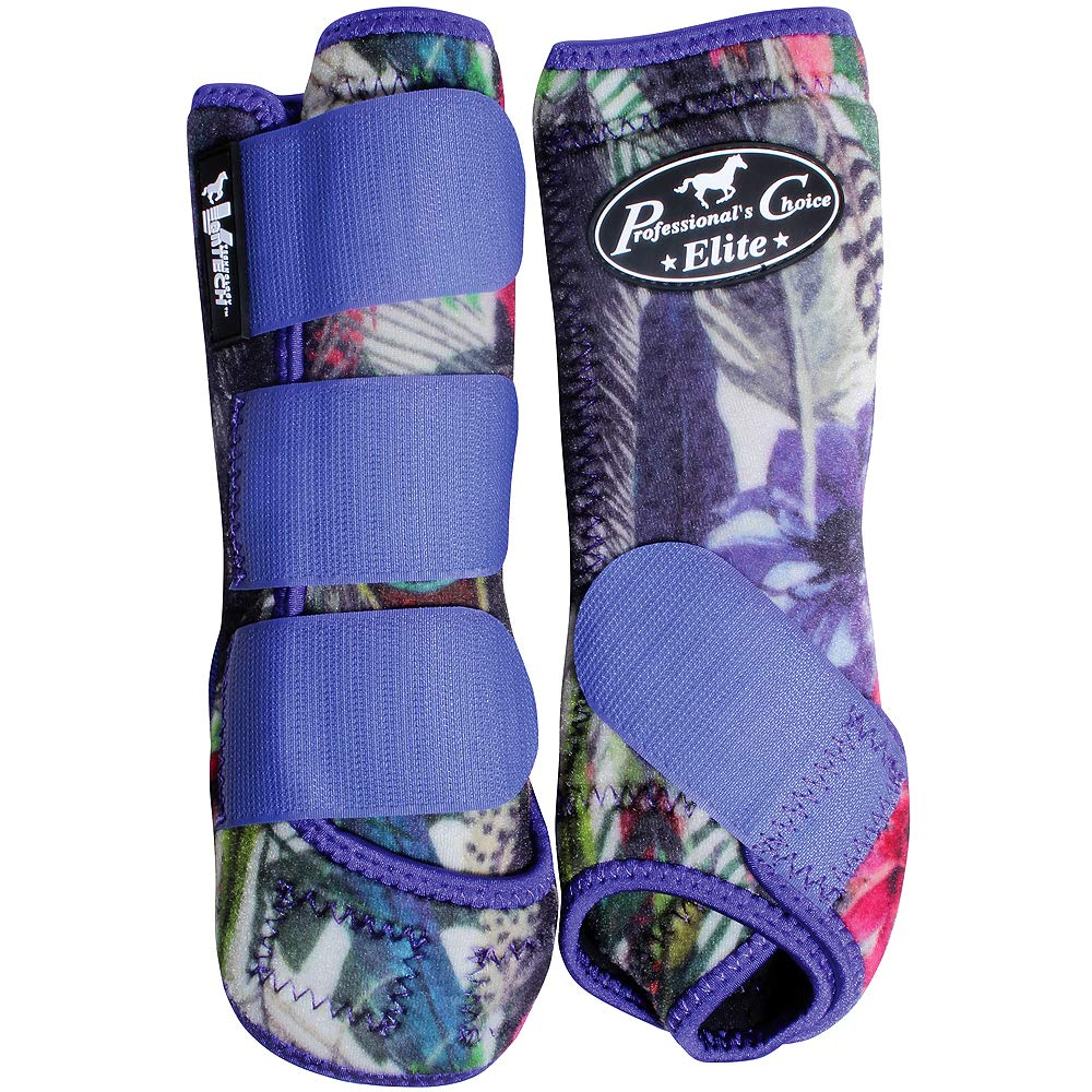 Professional Choice Med Horse Sports Medicine Boots Ventech Elite Feathers by Professional Choice