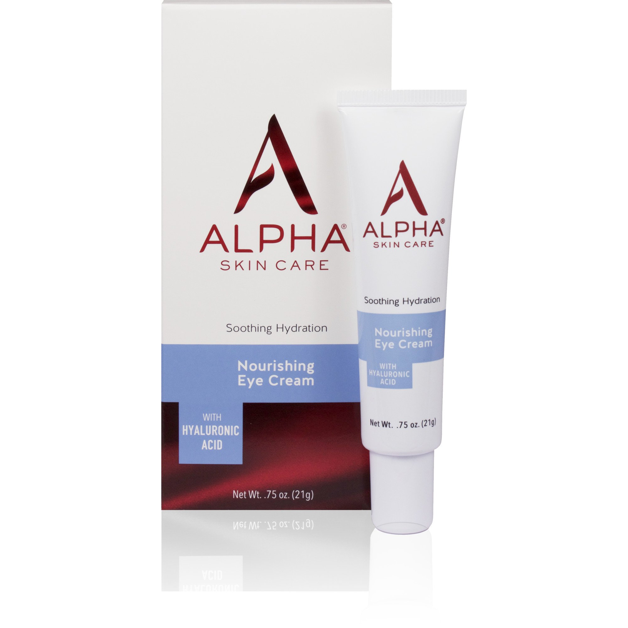 Alpha Skin Care - Nourishing Eye Cream, with Hyaluronic Acid, Soothing Hydration for Radiant Skin| Fragrance-Free and Paraben-Free| 0.75 Ounce (Packaging May Vary) by Alpha Skin Care