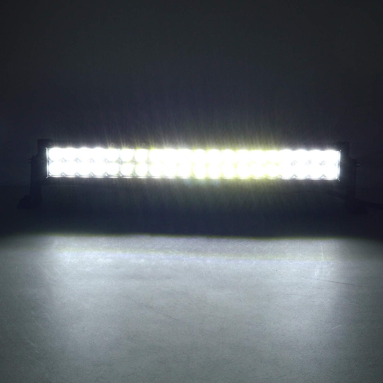 Willpower 31cm 72W Barre Lumineuse LED de Travail Spot Dinondation Combo Faisceau DC 12V-24V 6000K 4x4 Voiture Camion Tracteur Offroad V/éhicules ATV Utvs