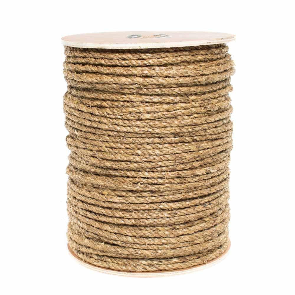 25 Feet 2 inch X 10 Feet 600 Feet 5//16 inch 5//8 inch Golberg 3 Strand Natural Fiber Tan Manila Rope in Multiple Diameters 50 Feet 1//4 inch 100 Feet 1 inch 1//2 inch 3//8 inch 3//4 inch