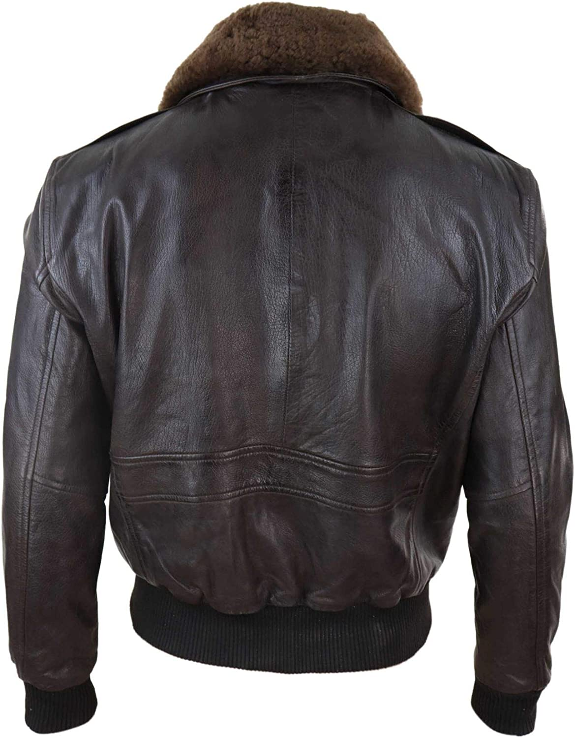 Mens Brown Tweed Casual Bomber Jacket with real leather sleeves