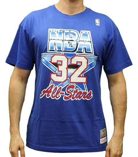 Mitchell   Ness Magic Johnson NBA Blue 1992 NBA All Star West Shirt For Men  ( e980b20dd69a