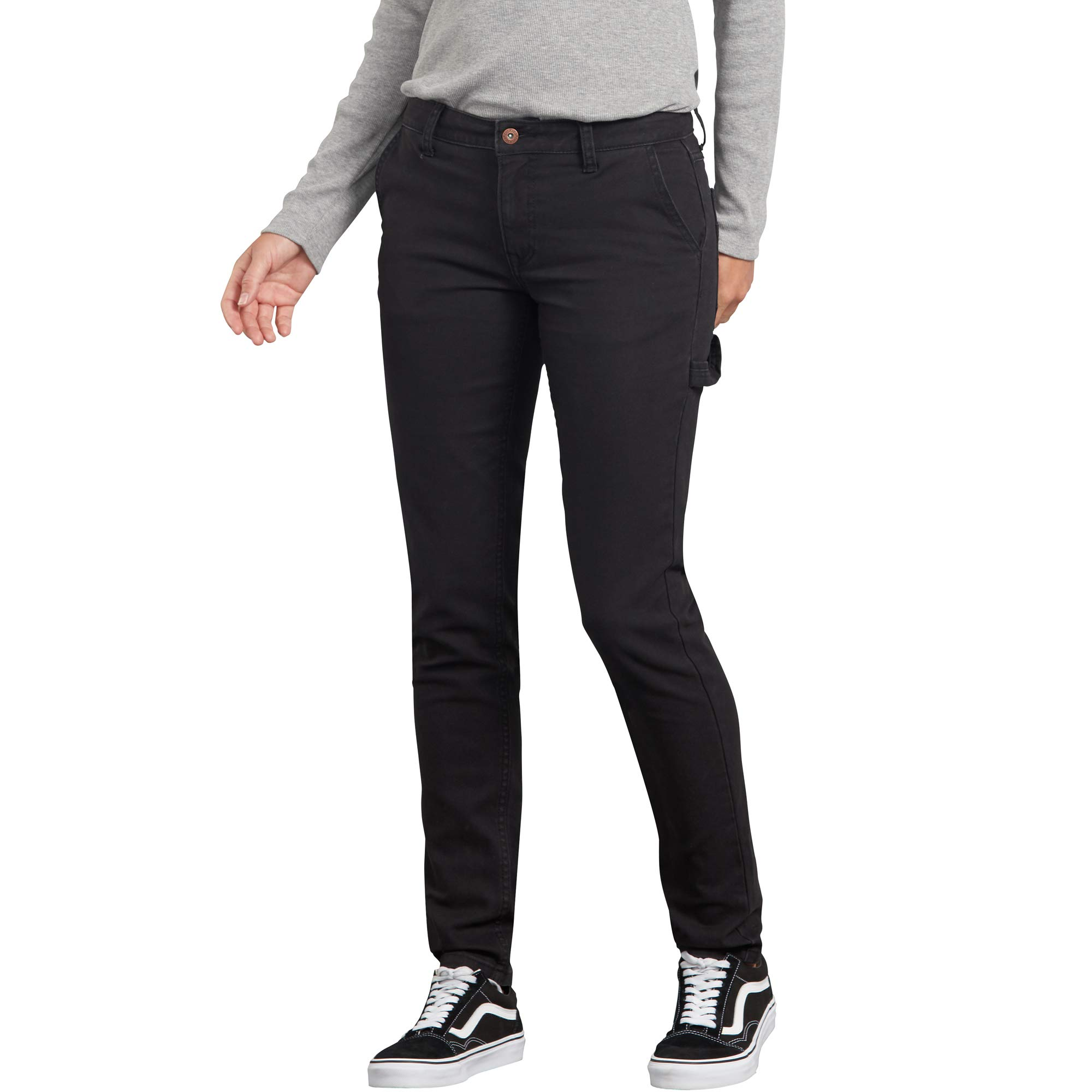 Dickies Women's Slim Straight Stretch Duck Carpenter Pant