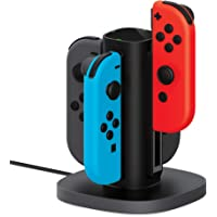 Nintendo Switch Joy Con Charging Dock by TalkWorks | Docking Station Charges up to 4 Joy-Con Controllers Simultaneously…