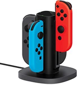 TalkWorks Nintendo Switch Joy Con Charging Dock (Charges up to 4 Joy-Con Controllers) - Controllers NOT Included