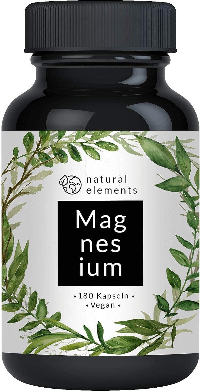 Premium Magnesiumcitrat - Vergleichssieger 2020* - 2250mg davon 360mg elementares Magnesium pro Tagesdosis - 180 Kapseln - Laborgeprüft - Magnesiumcitrat