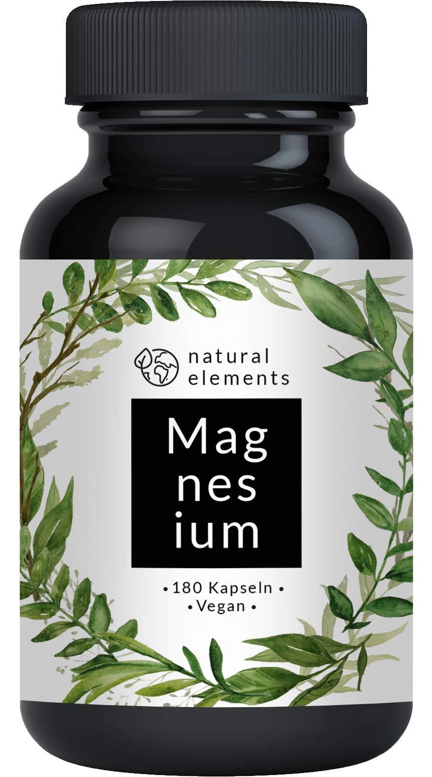 Premium Magnesiumcitrat - 2250mg davon 360mg elementares Magnesium pro Tagesdosis - 180 Kapseln - Laborgeprüft und ohne Zusätze wie Magnesiumstearat - Hochdosiert, vegan und hergestellt in Deutschland product image