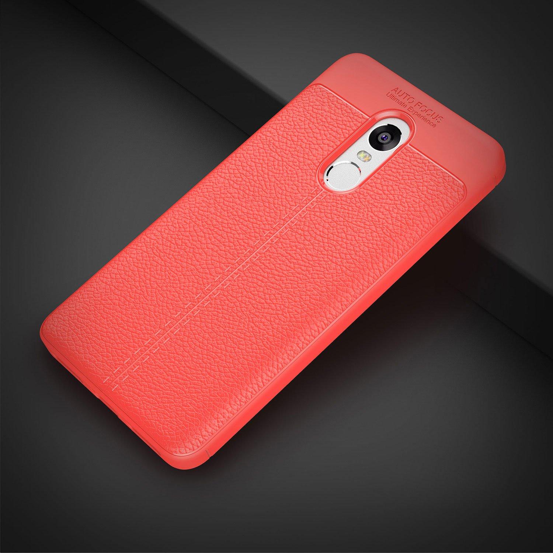 Funda Xiaomi Redmi Note 4 Gel TPU Silicona Flexible Fibra De Carbono Ultra Delgado Ligero Goma Case Cover Caja Suave Gel Shock Absorci/ón Anti Rasgu/ños Anti Choque Bumper Protectora Funda