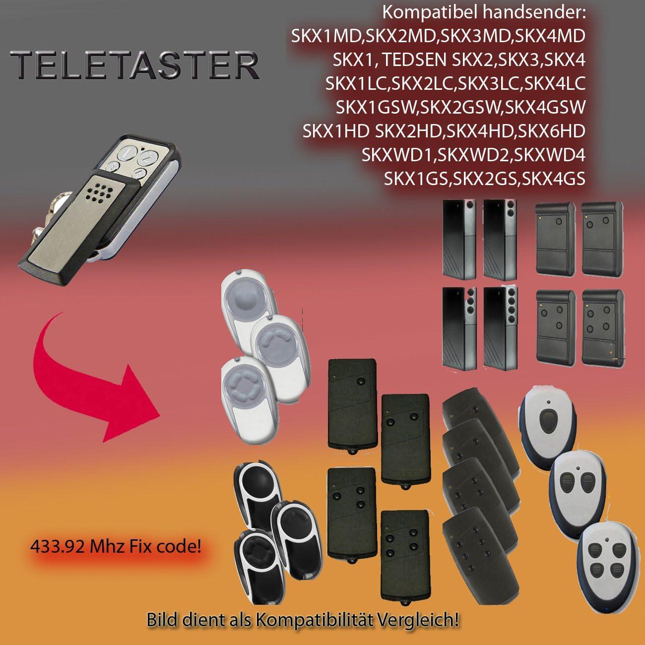 SKX4LC compatible remote control TEDSEN SKX1LC SKX2LC clone 433,92MHz SKX3LC