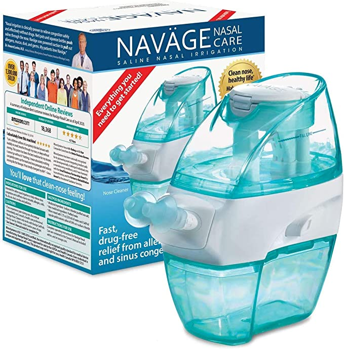 Navage Nasal Care Combo - Nasal Cleanser, 18 Saltpods Capsules, Counter Box: Buy Online at Best Price in KSA - Souq is now Amazon.sa