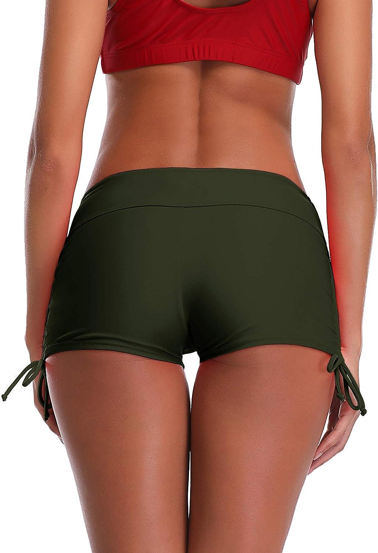 MiYang Womens Beach Pant Bikini Bottom Adjustable Tie Boy Short