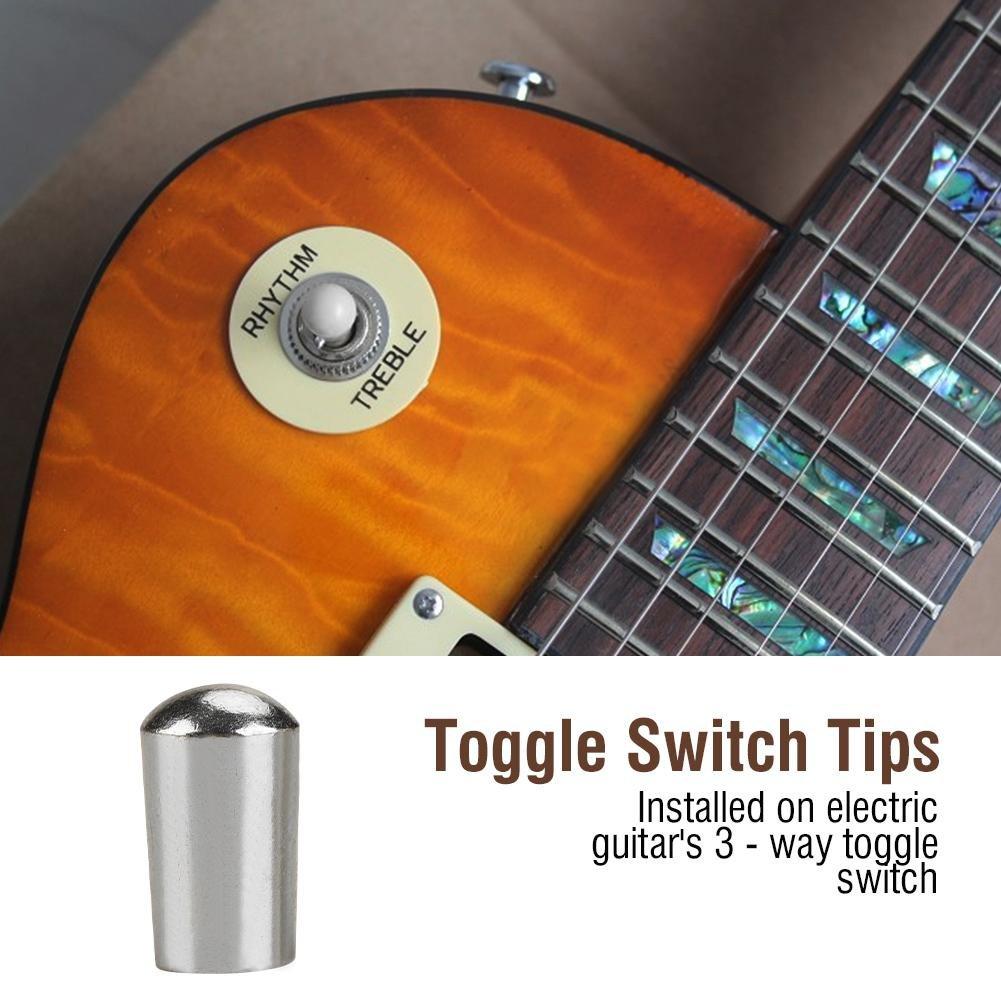 10 stücke Kunststoff 3-Way Kippschalter Knöpfe Kappe für E-gitarre 4mm