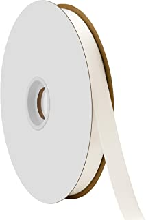 "product image for Offray Berwick 5/8"" Single Face Satin Ribbon, Antique White Ivory, 100 Yds"