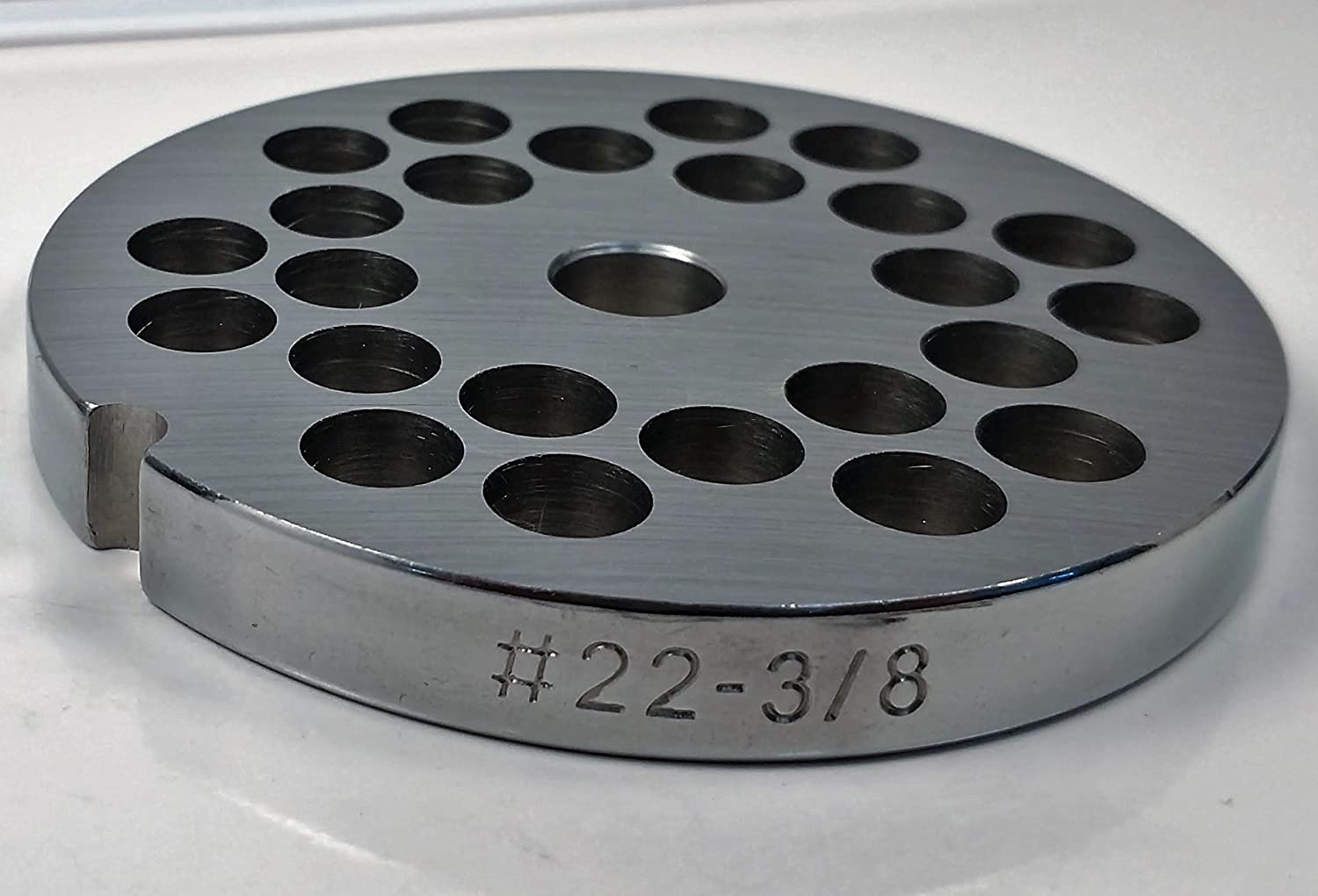 Food Service Knives #22 Meat Grinder Plate (3/8 in.)